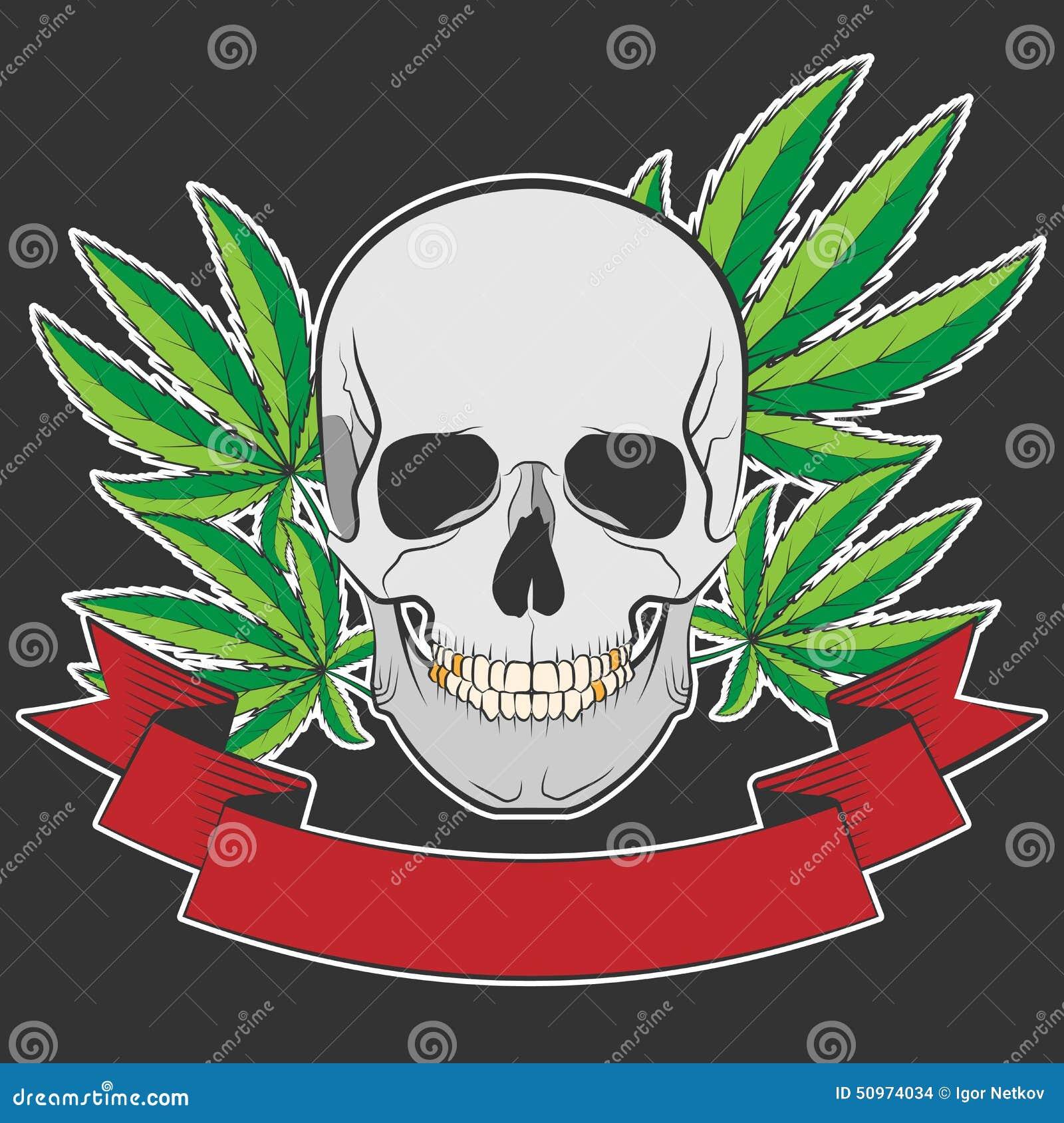 Cr 226 Ne Et Cannabis Illustration De Vecteur Image 50974034