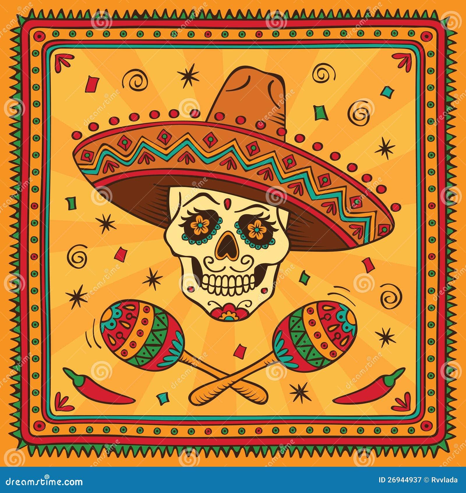 Crâne mexicain de sucre