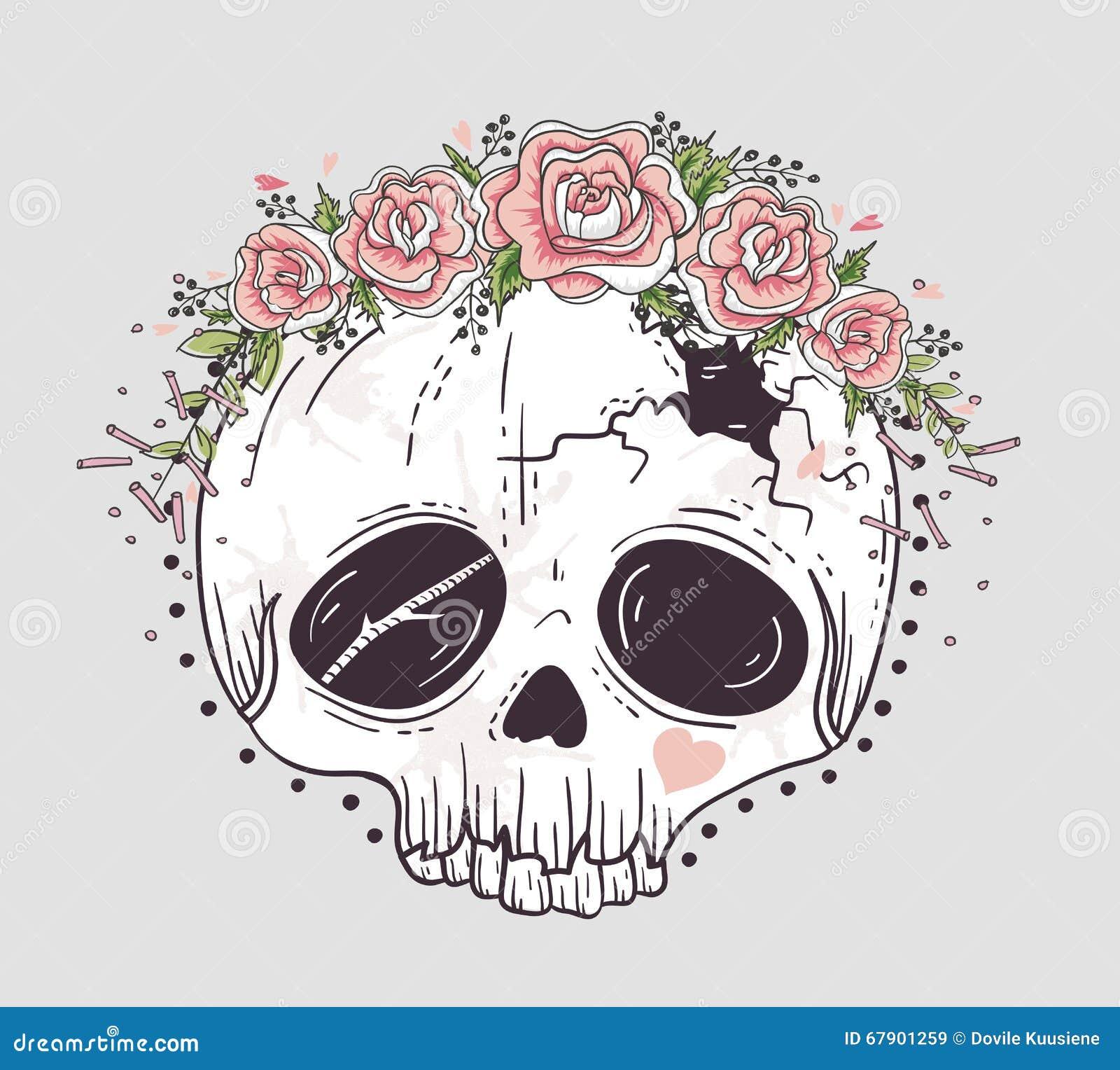 tatouage hibou tete de mort mexicaine