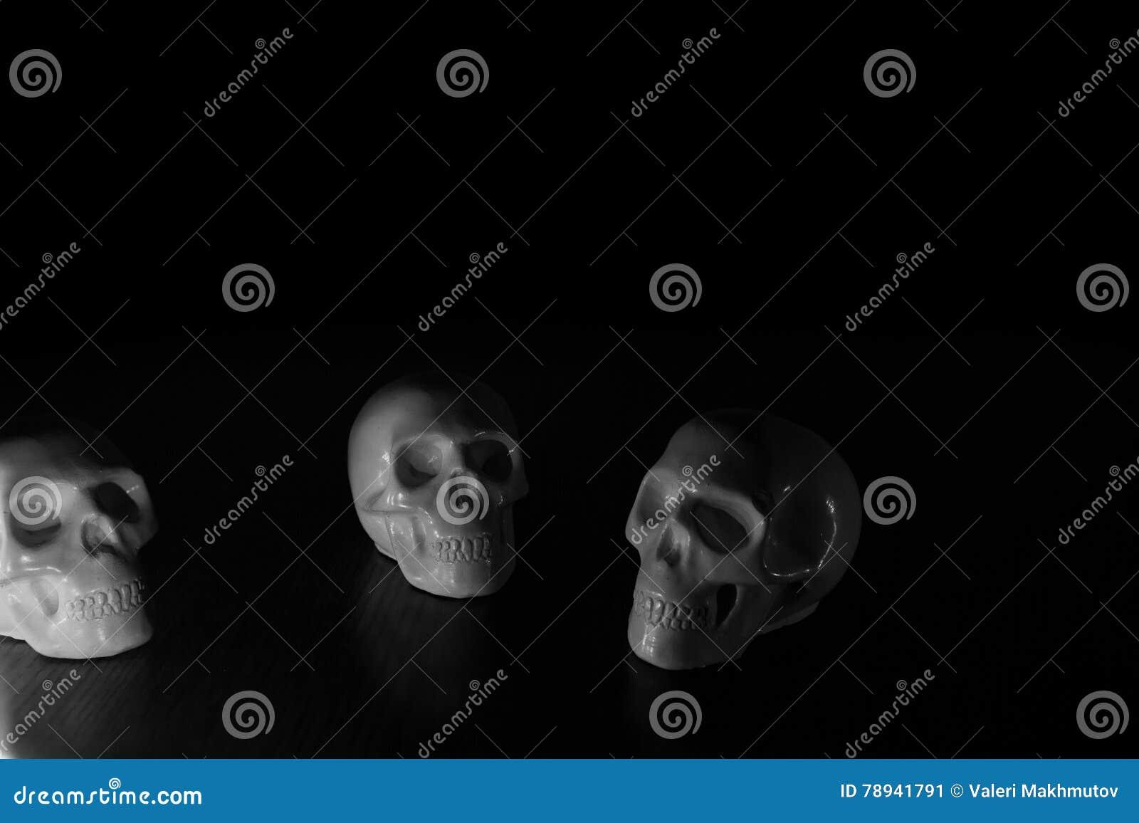 Crânes, fond de Halloween