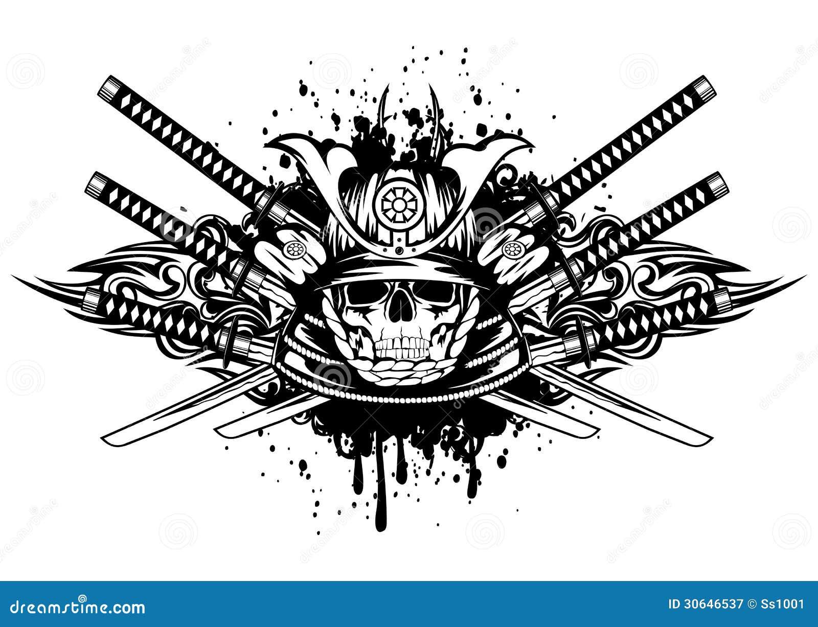Тату шлем самурая эскиз тату
