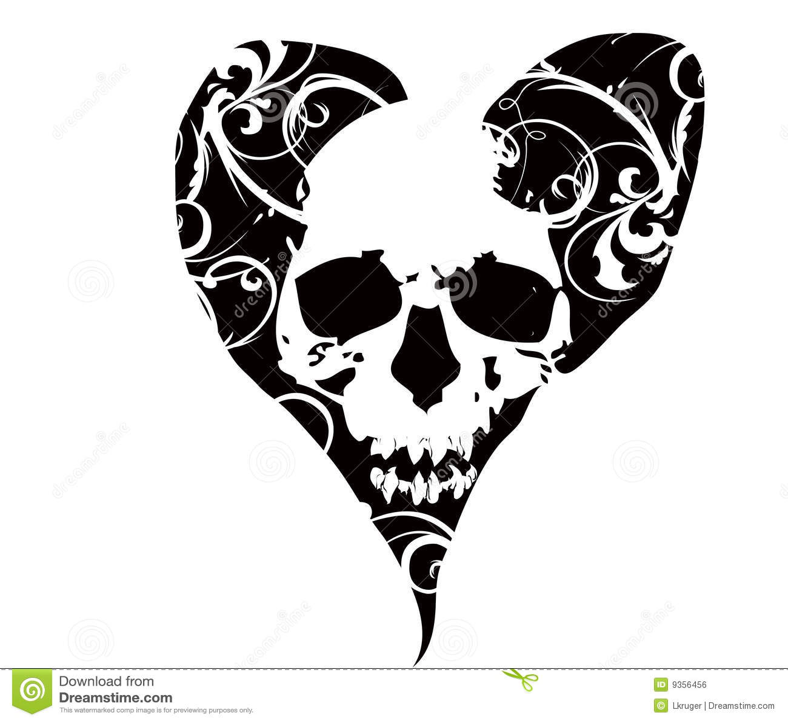 Crânio no coração