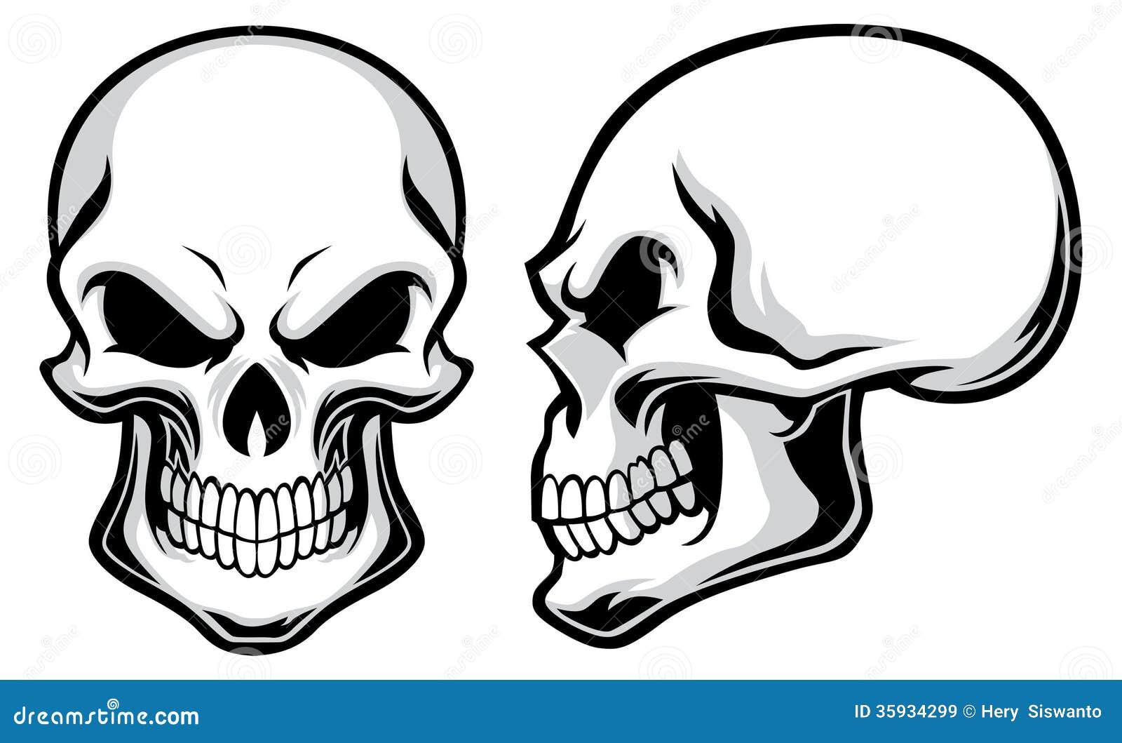 Crânios dos desenhos animados
