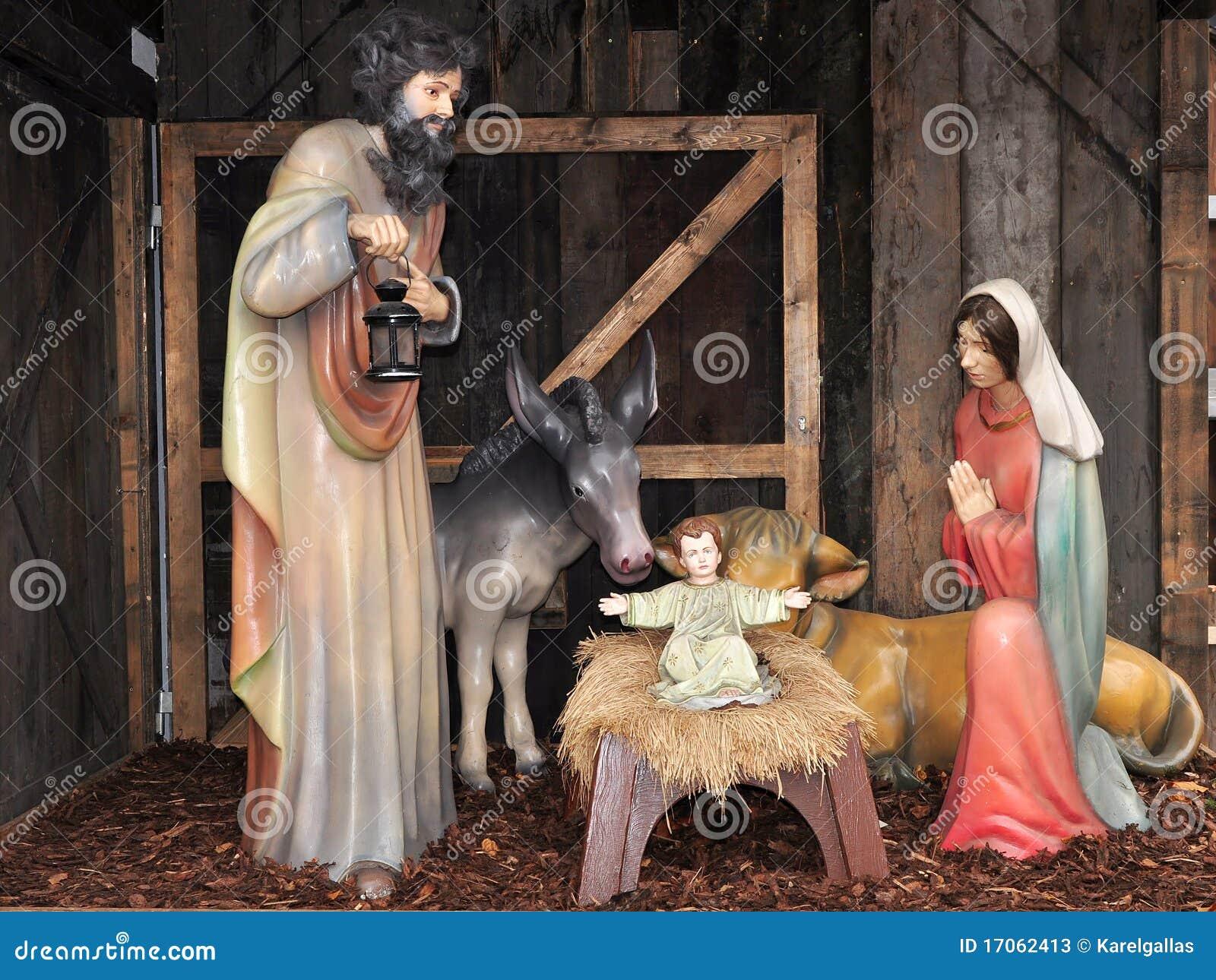 Crèche, de tijd van Kerstmis