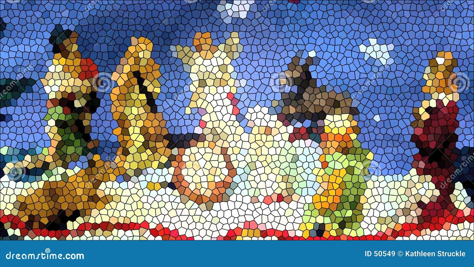 Download Crèche en verre souillé image stock. Image du couleurs, religieux - 50549