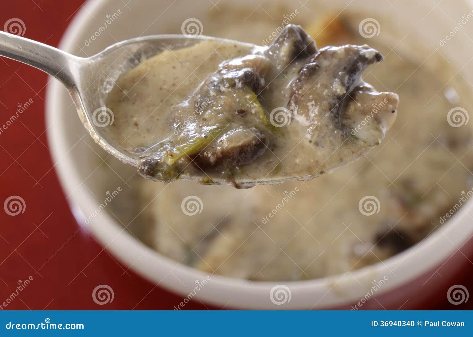 Crème faite maison de soupe à champignons