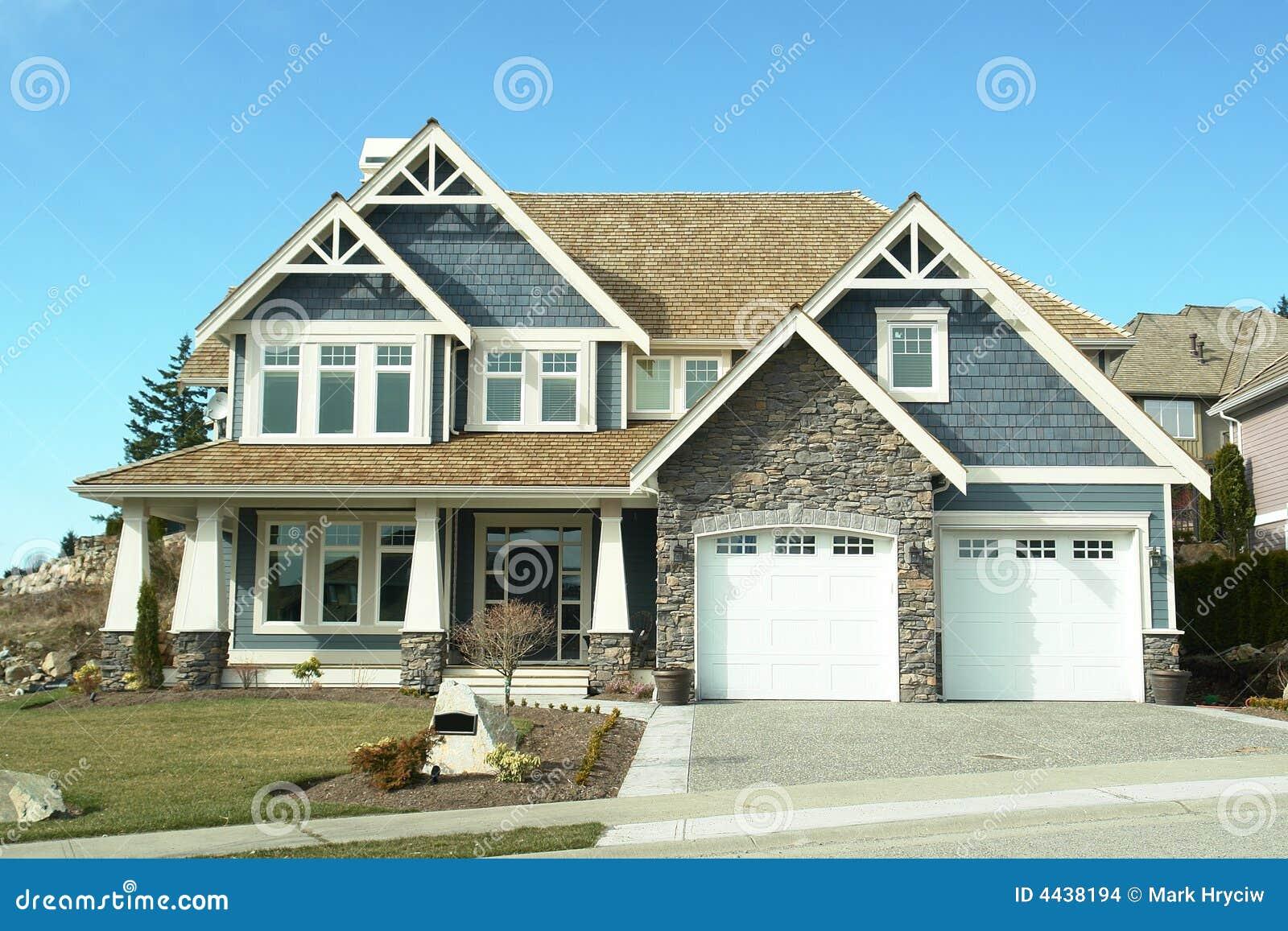 cr ateur bleu de chambre la maison neuf images stock