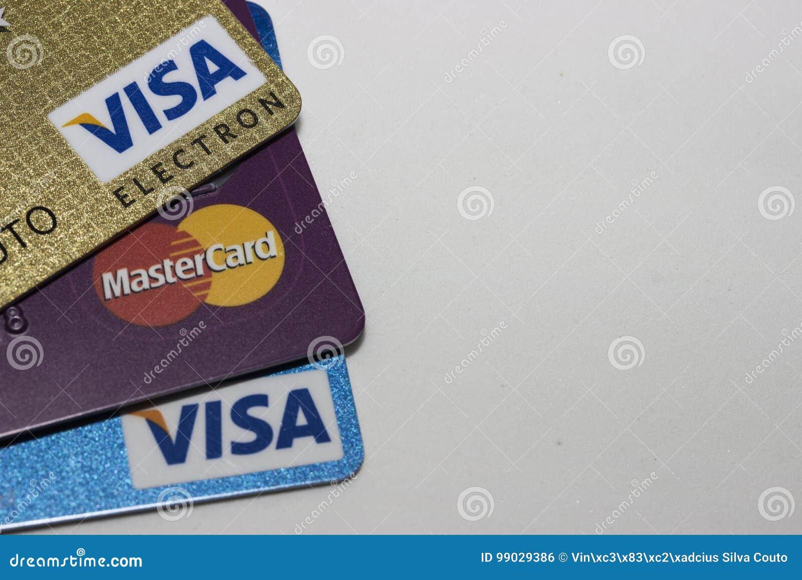 Carte Mastercard Bresil.Credit S De Carte Photo Editorial Image Du Studio Personne