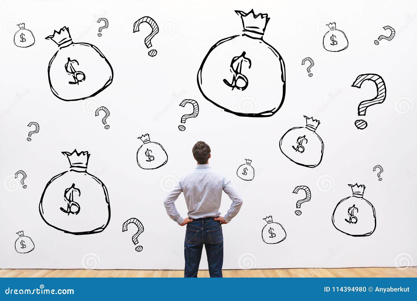 Crédito, inversión o concepto financiero fundraising, dinero
