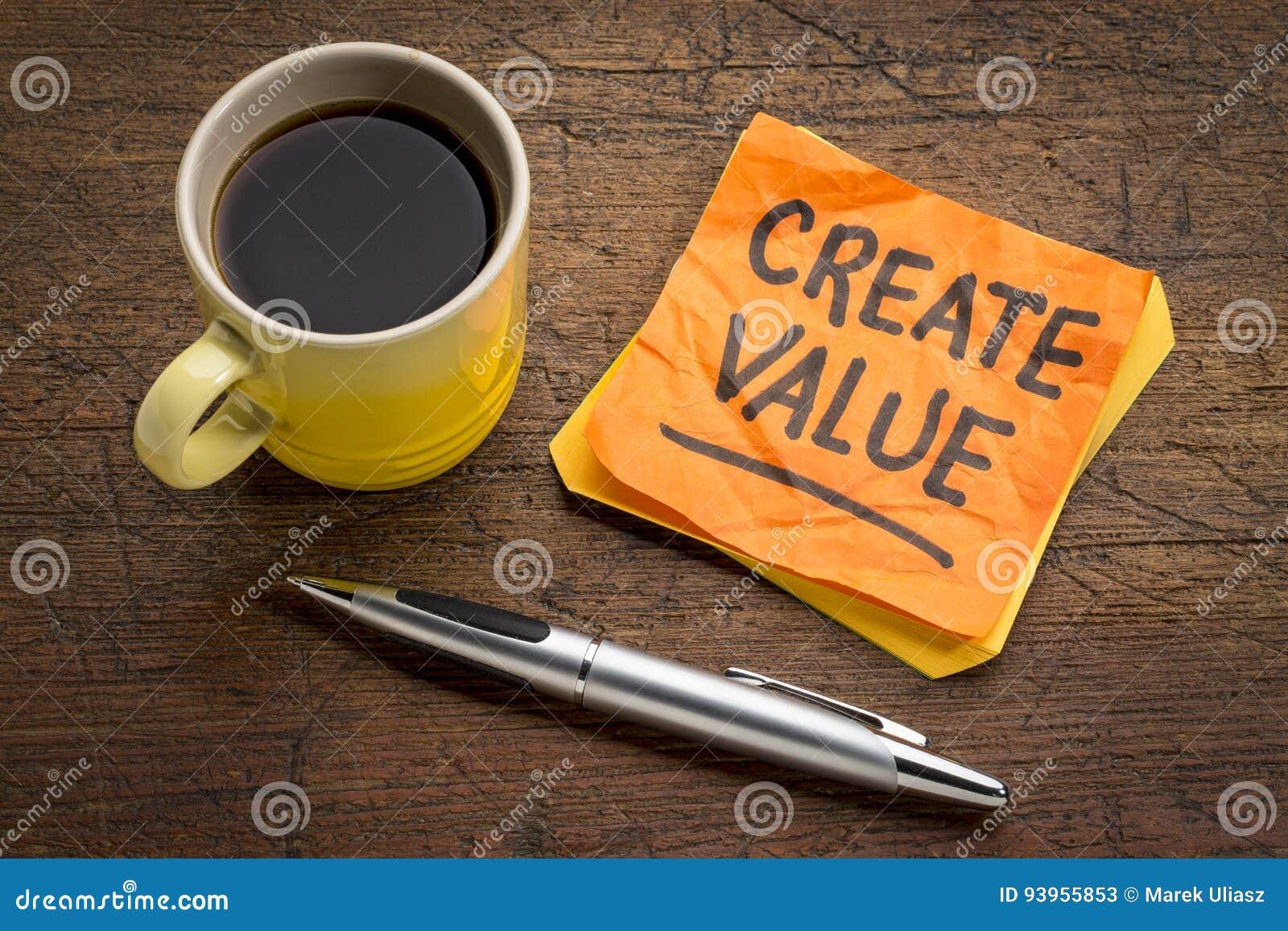 Créez le rappel de valeur sur la note collante