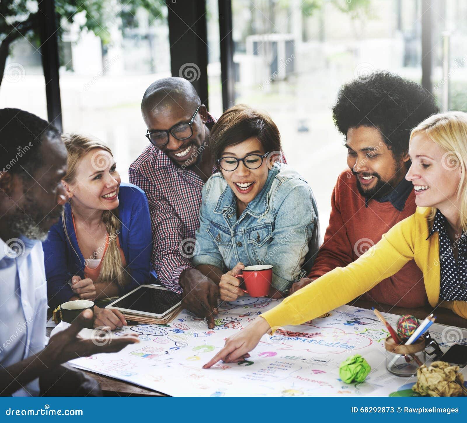 Créez les affaires Team Meeting Ideas Concept