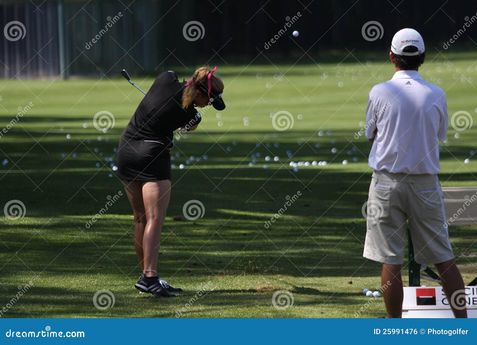 Crémeuse de Paula aux maîtres 2012 d Evian de golf