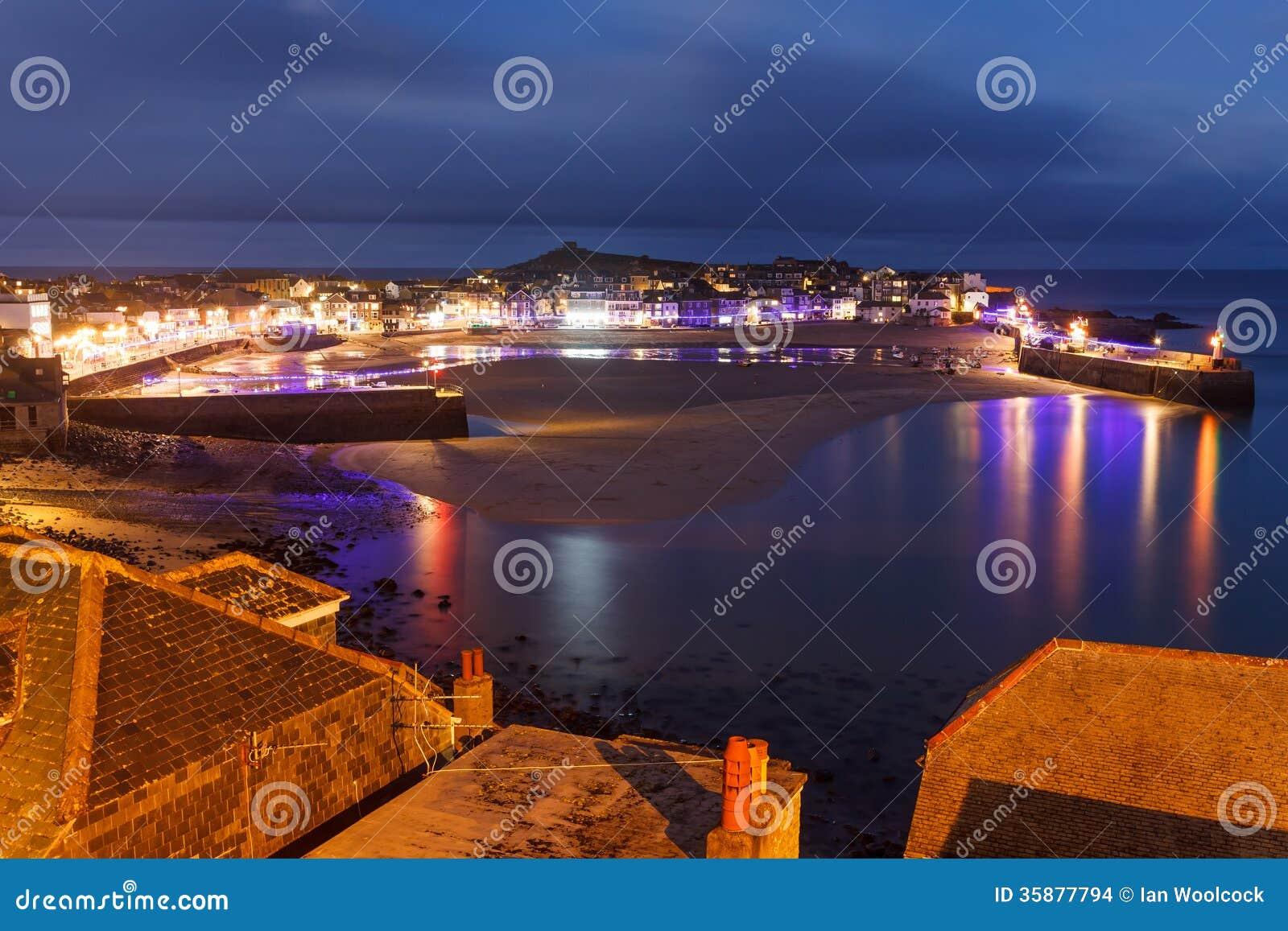Crépuscule donnant sur St Ives Cornwall