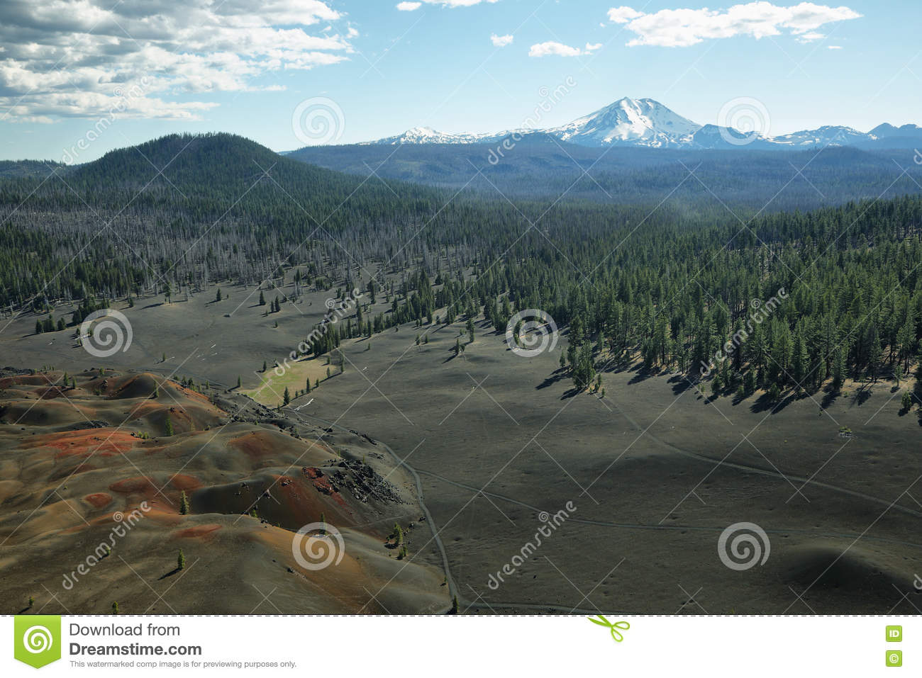 Crête de Lassen, parc national volcanique de Lassen, la Californie