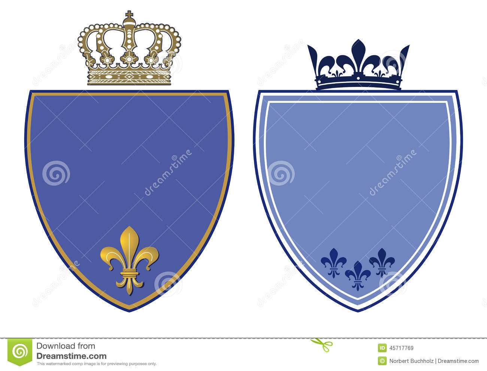 Crêtes bleues avec les couronnes royales