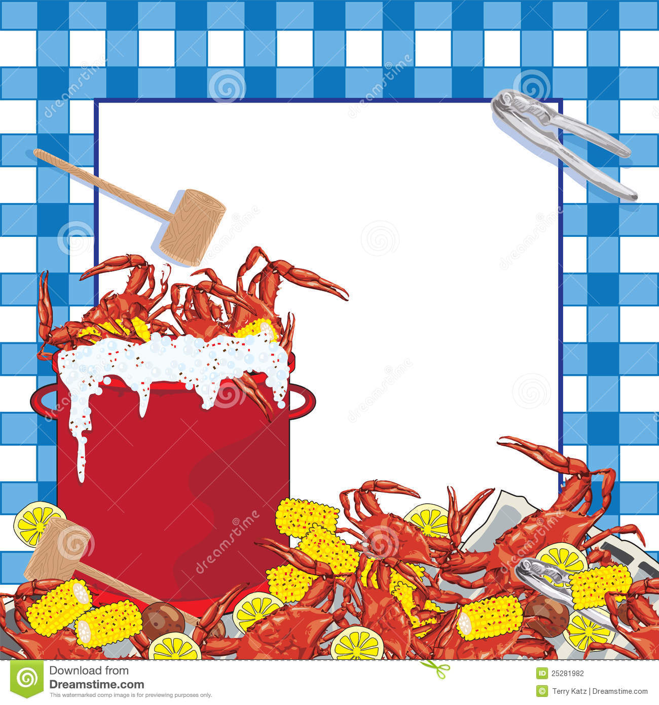 Crab Boil Party Invitation. Stock Photography - Image: 25281982