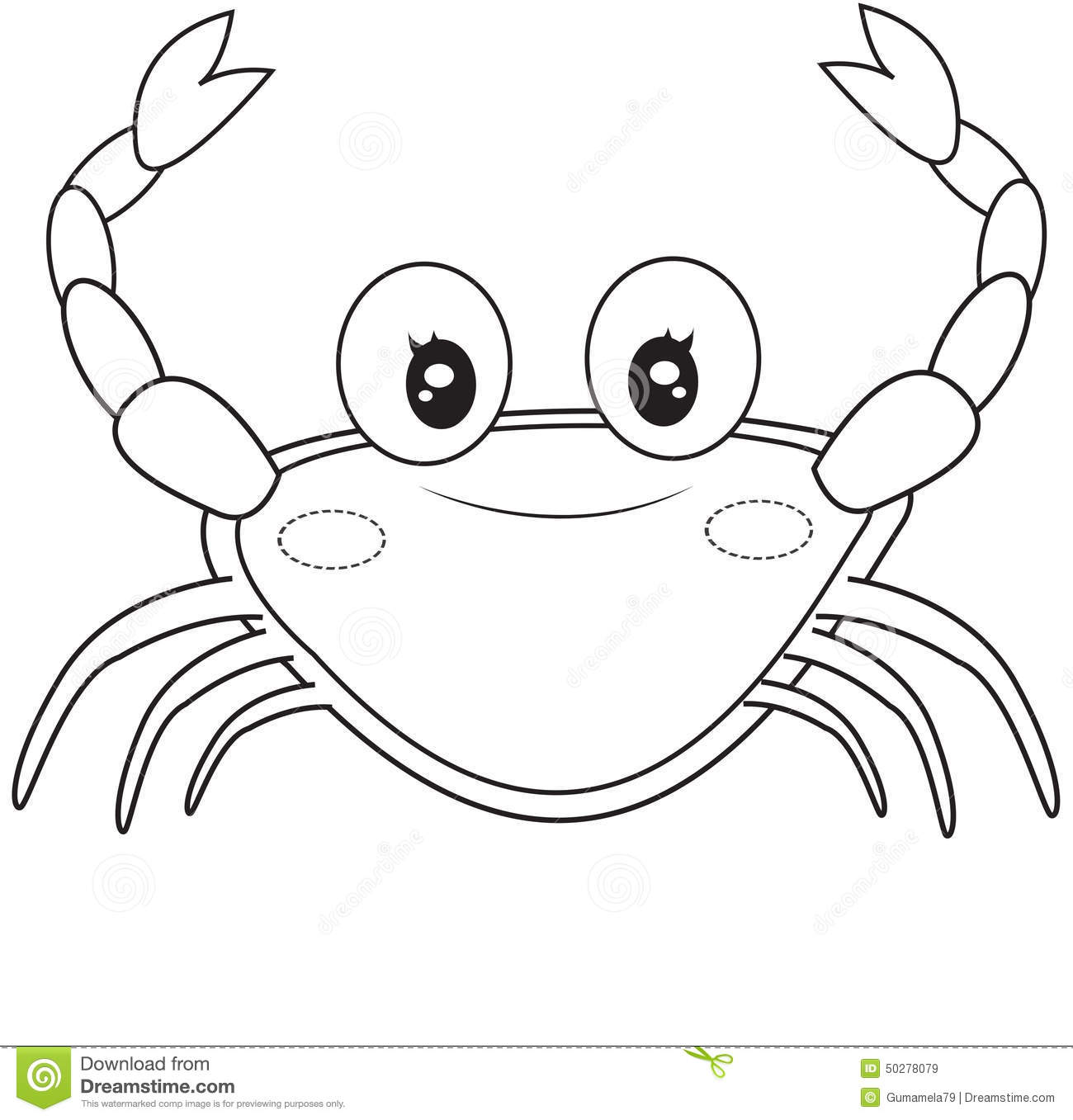Crab Coloring Page Stock Illustration Image 50278079