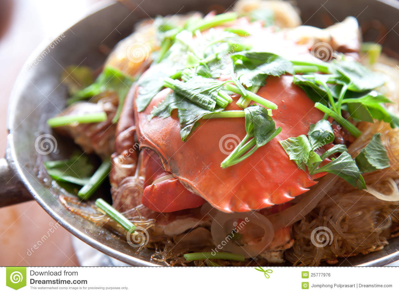 Crab And Glass Noodles Royalty Free Stock Image - Image: 25777976