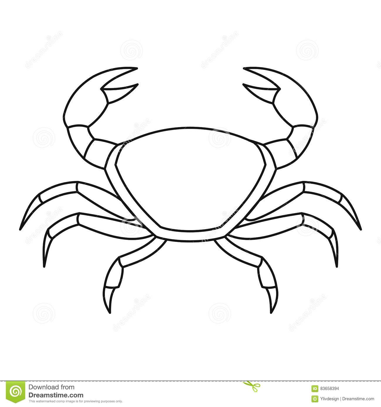 Crab Outline Www Imgkid Com The Image Kid Has It