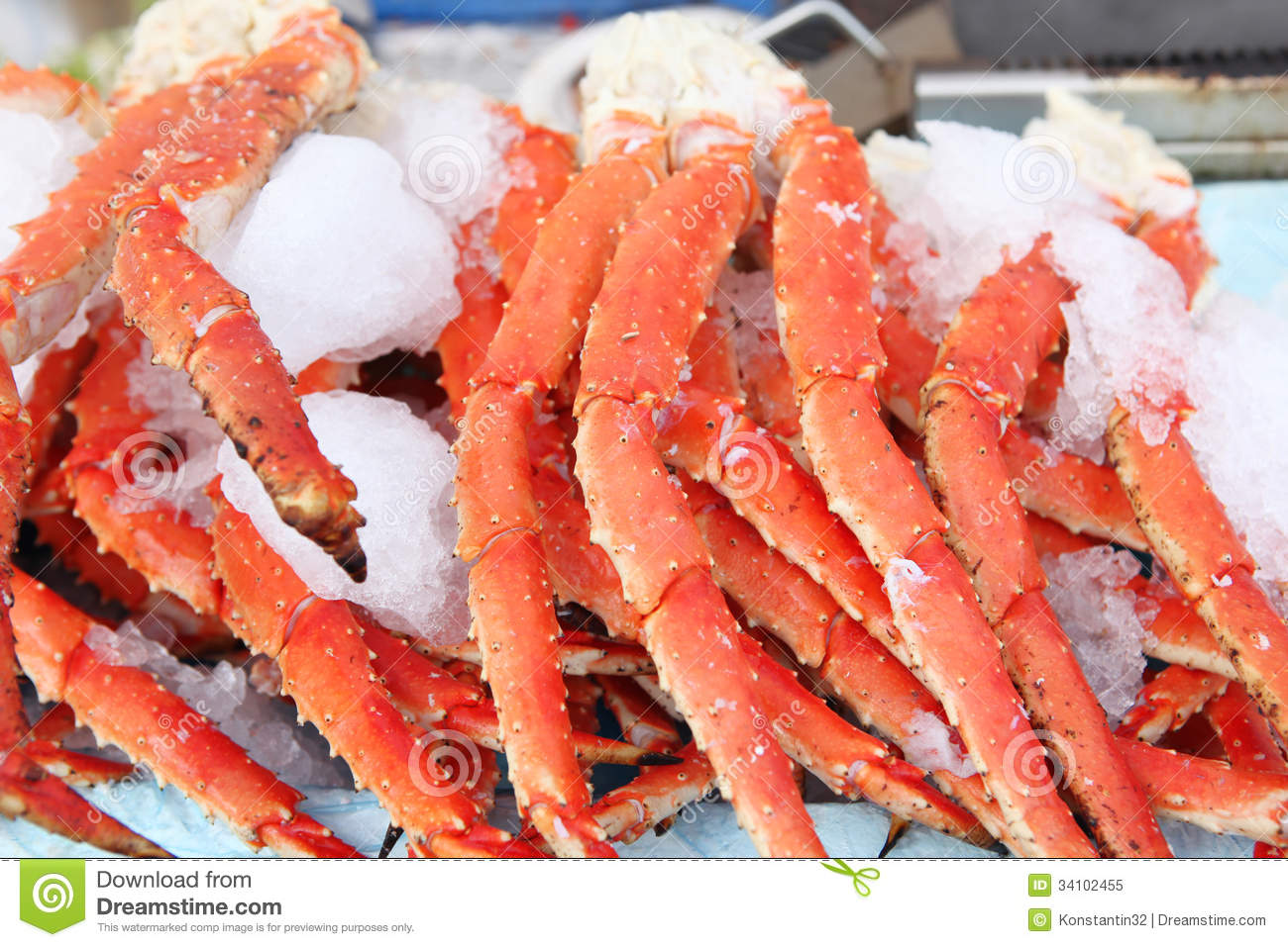 Crab legs at a seafood market stock image image 34102455 for Seafood fish market