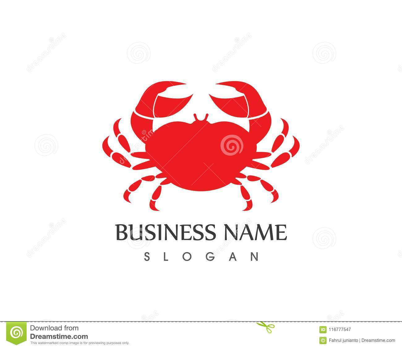 crab logo vector template business icon logo template stock vector