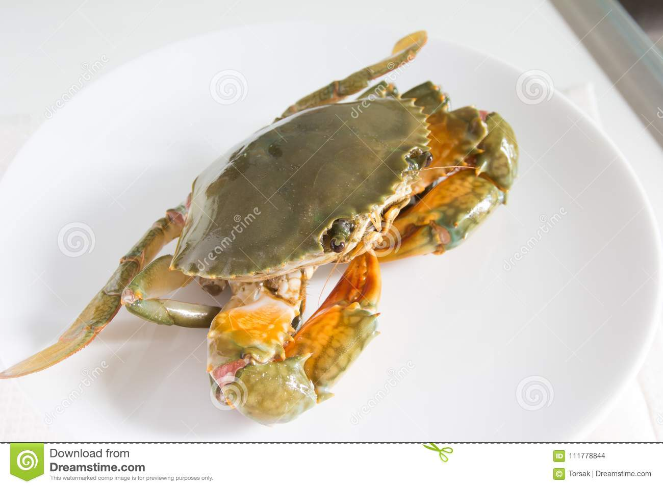 Crab on plate