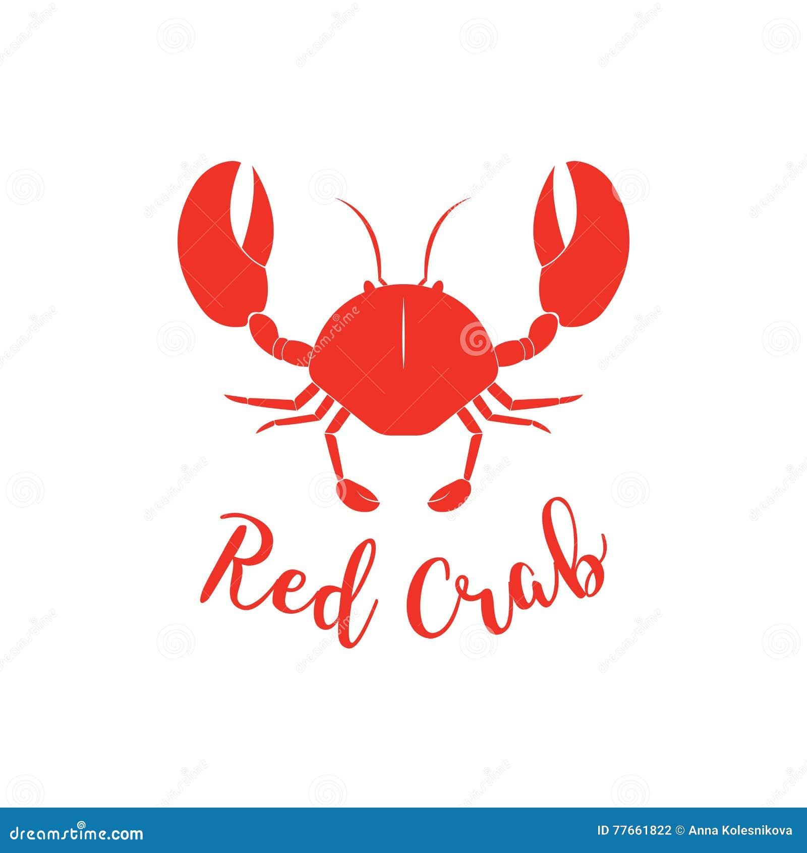 Crab Logo Template Cartoon Vector Cartoondealer Com