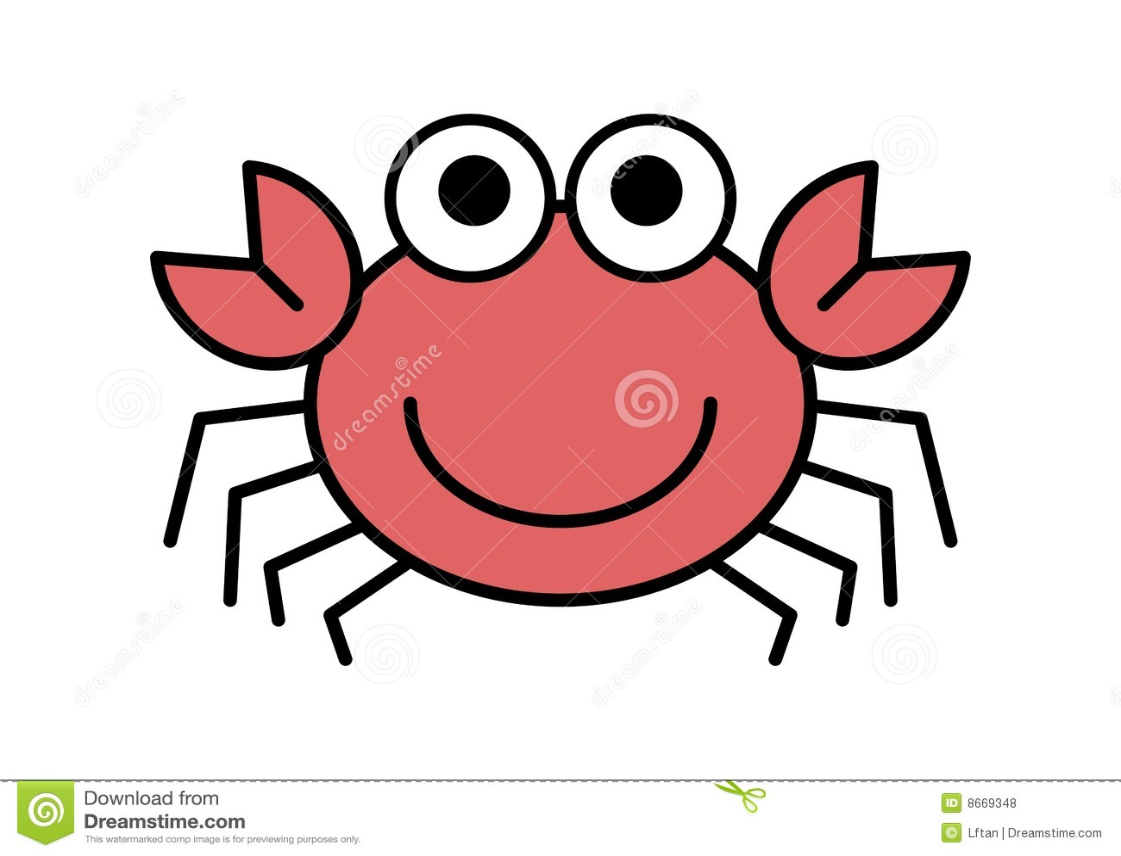 Crabe de dessin animé