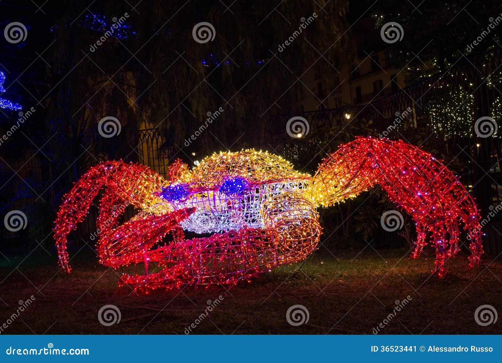 Crabe de lumières de Noël