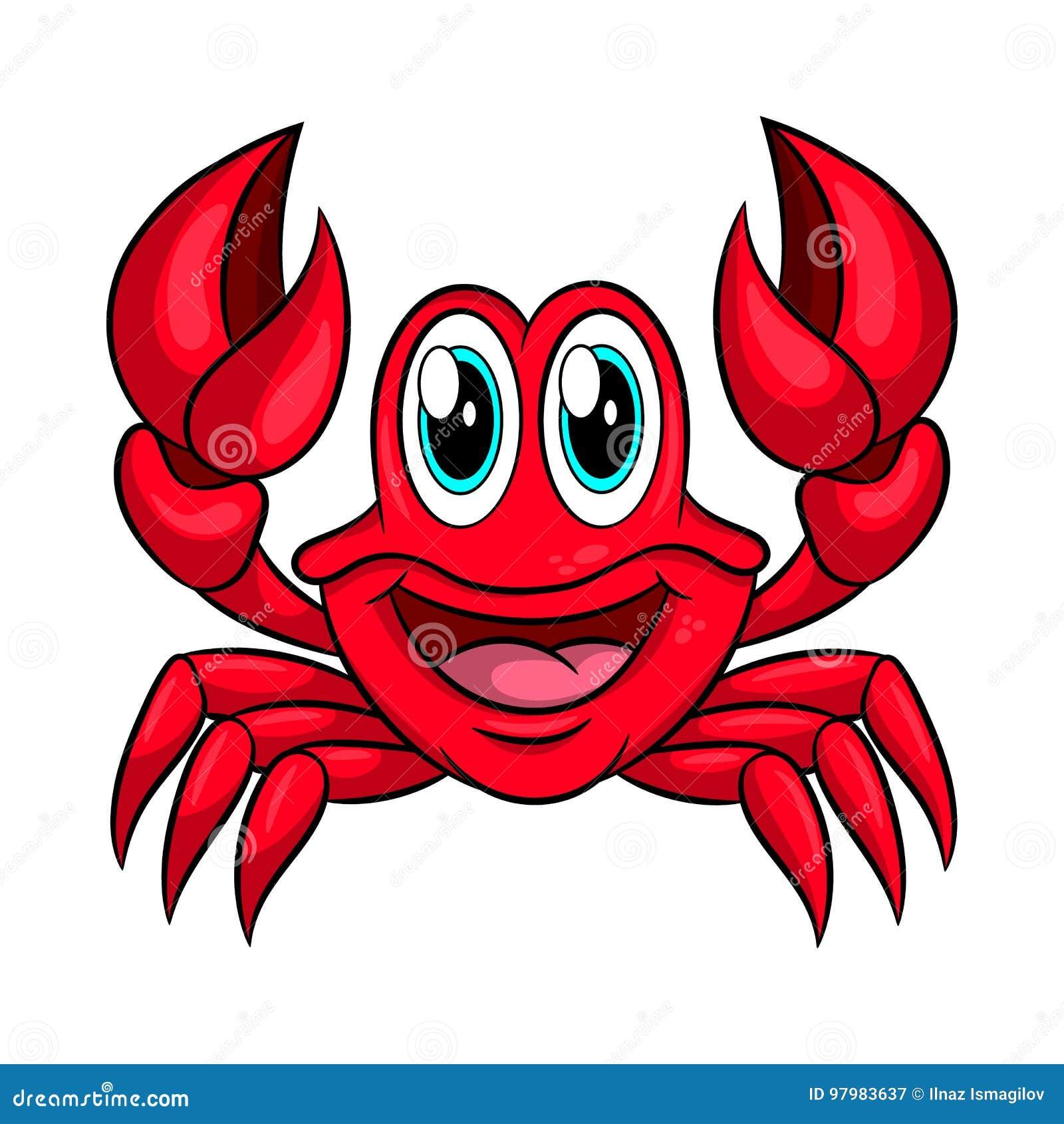 Crabe Drôle De Dessin Animé Illustration de Vecteur ...