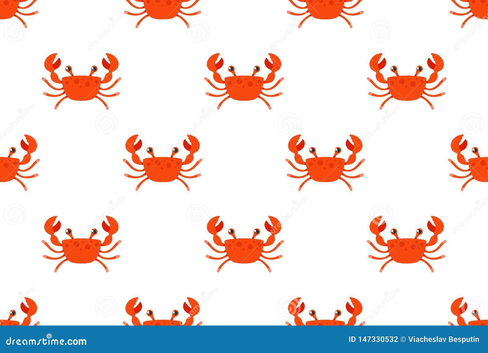 Crabe rouge sur un fond blanc