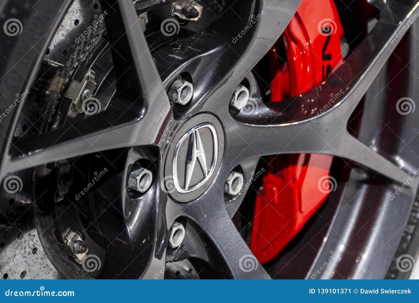 Crachá da roda de Acura NSX