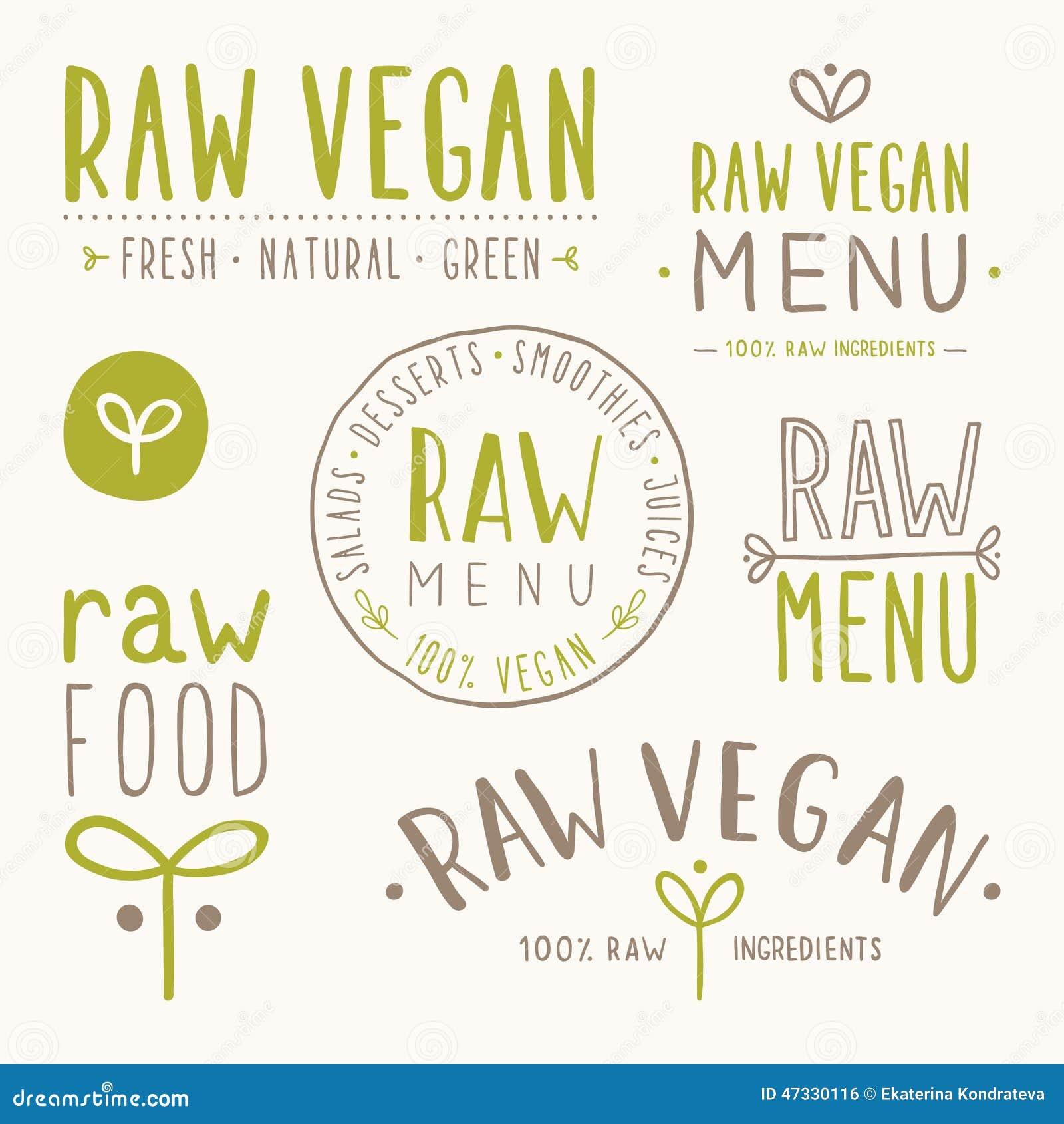 Crachás crus do vegetariano