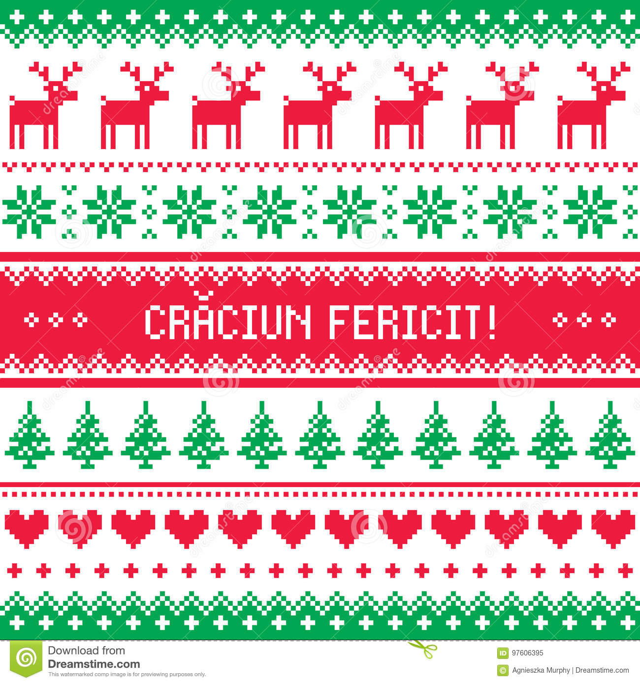 Craciun fericit greeting card merry christmas in romanian pattern craciun fericit greeting card merry christmas in romanian pattern m4hsunfo