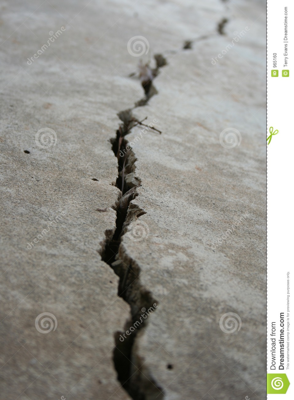 Crack In Pavement Stock Photo Image Of Metaphor