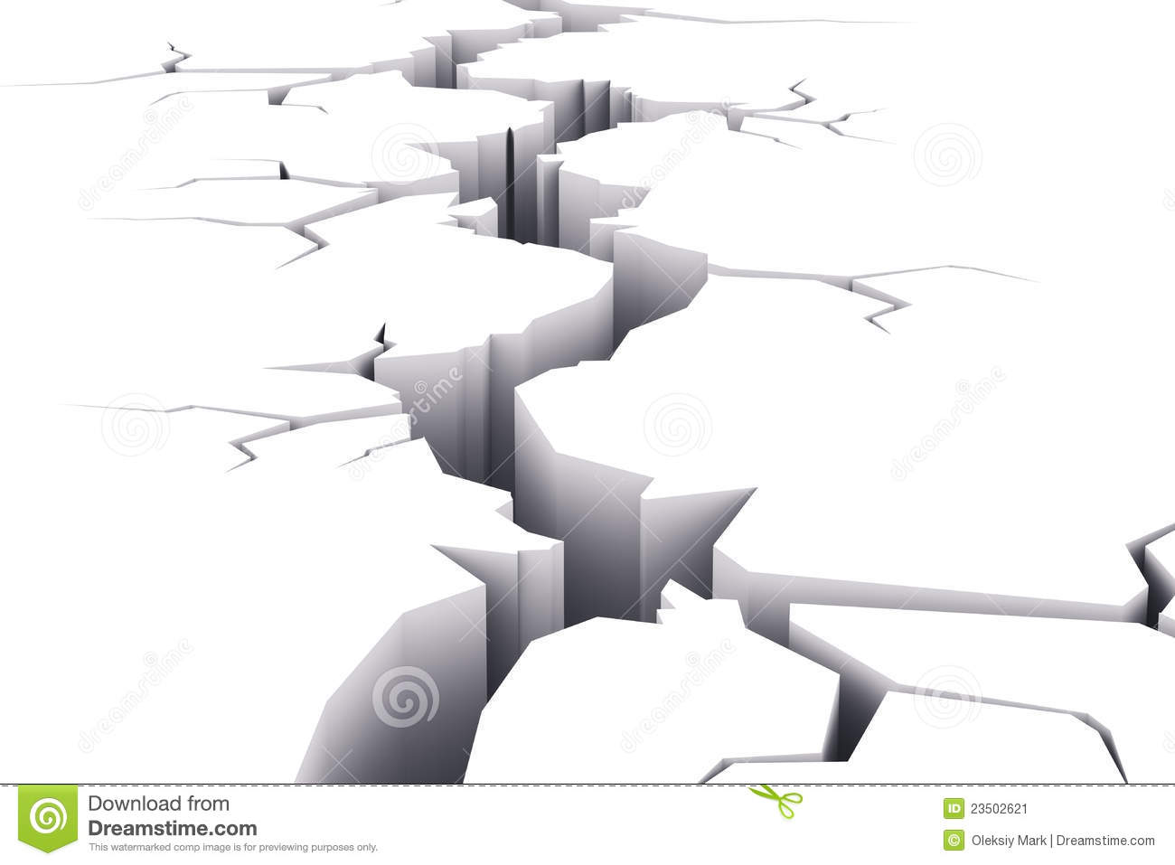 Crack In White Surface Stock Image - Image: 23502621