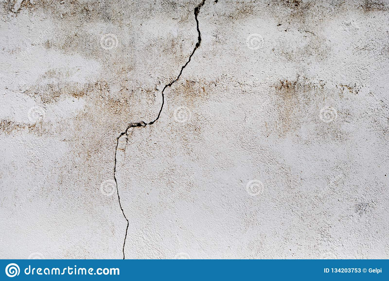 Crack in a white wall