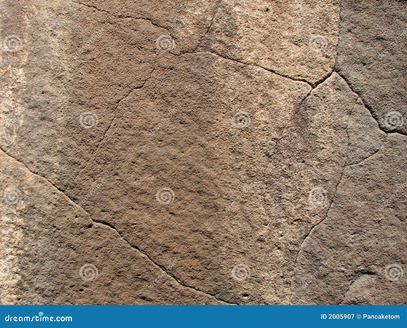Cracked basalt face