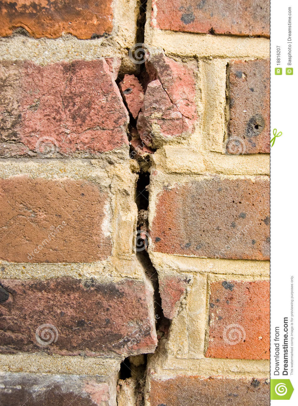 Cracked Brick Wall Royalty Free Stock Photography Image 18816207