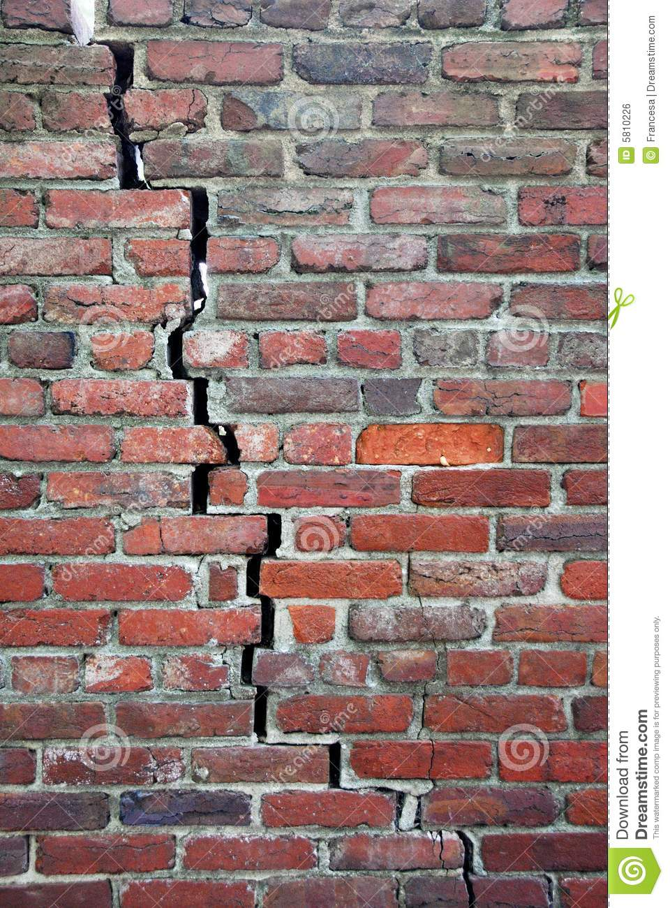cracked brick wall royalty free stock image image 5810226 brick house clipart black and white Straw House Clip Art