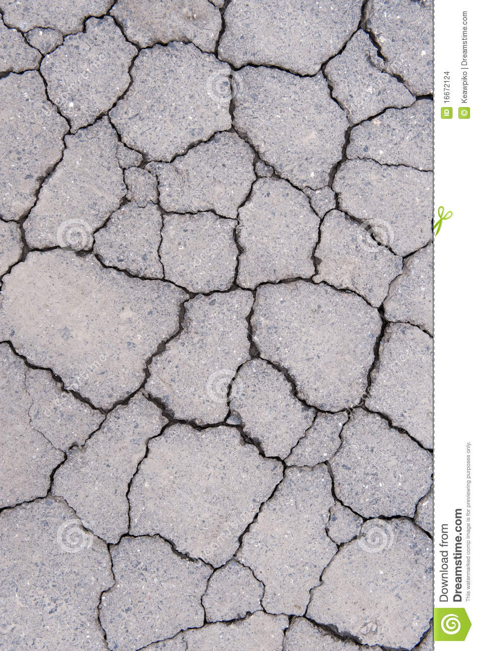 Cracked cement stock photo. Image of home, detail, hole - 16672124