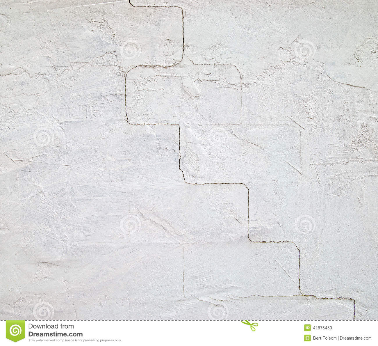 Cracked concrete block wall stock photo image 41875453 for Concrete block stucco