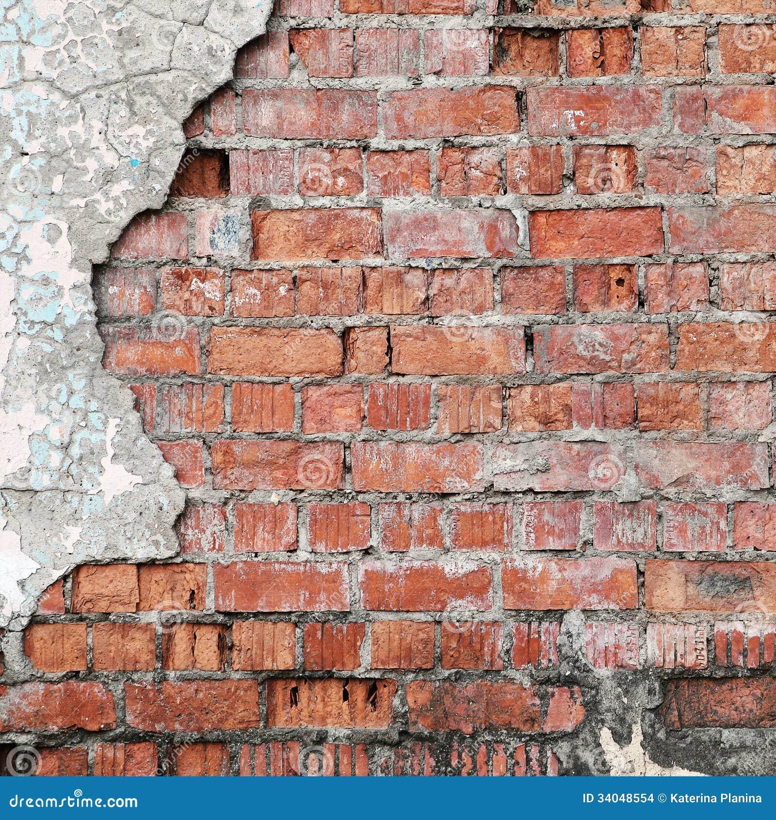 Cracked Concrete Brick Wall Stock Photo Image Of