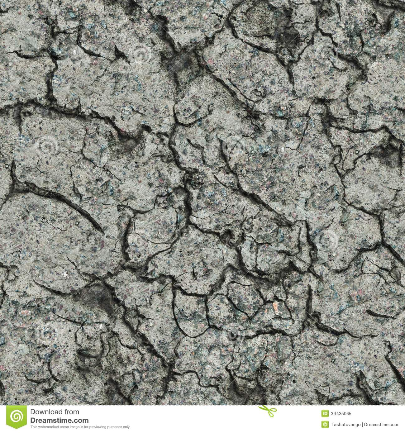 Cracked Concrete Wall Seamless Tileable Texture Royalty