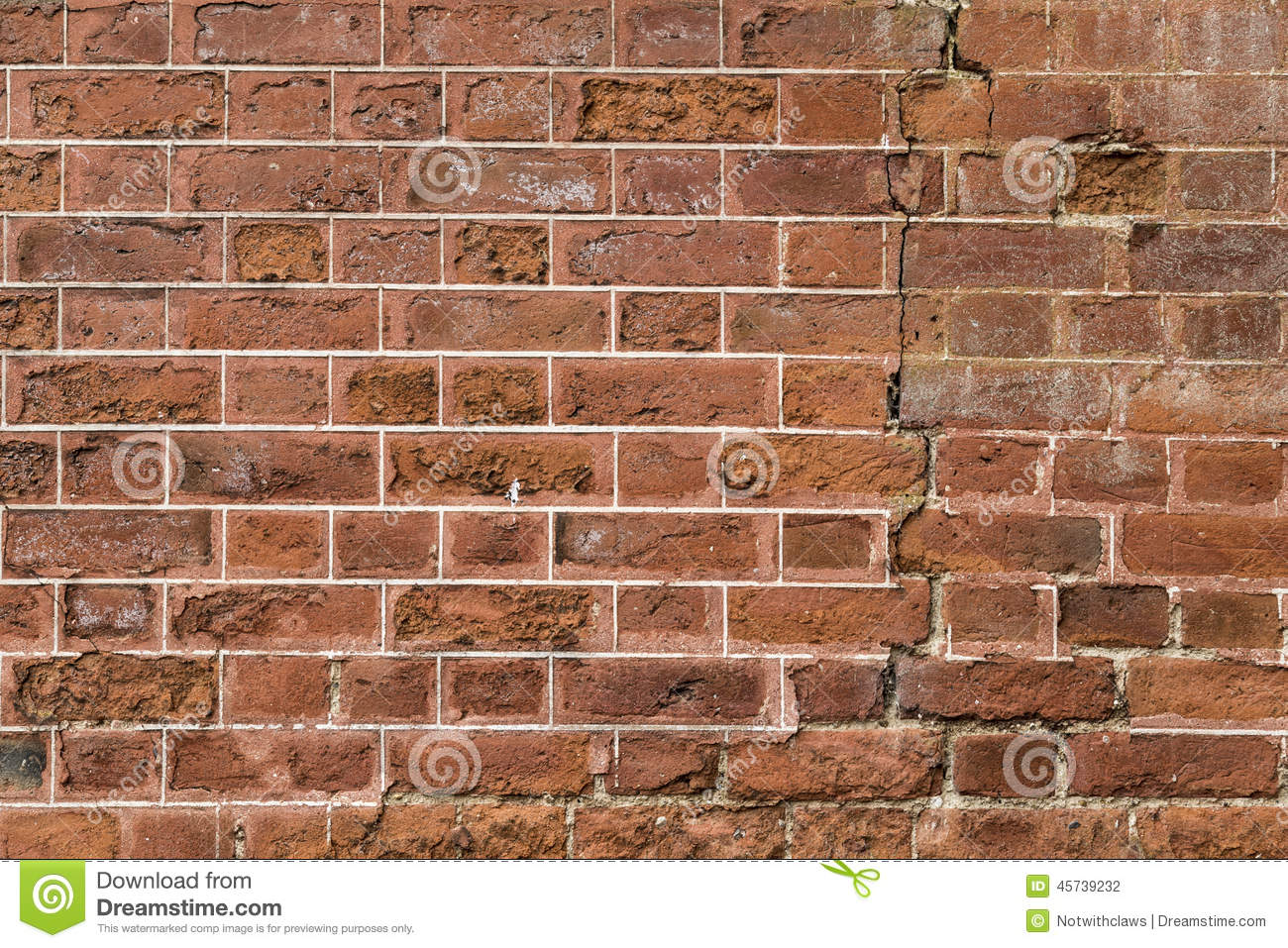 Cracked Exterior Wall Of 17th Century Stately Home Stock Photo Image 45739232