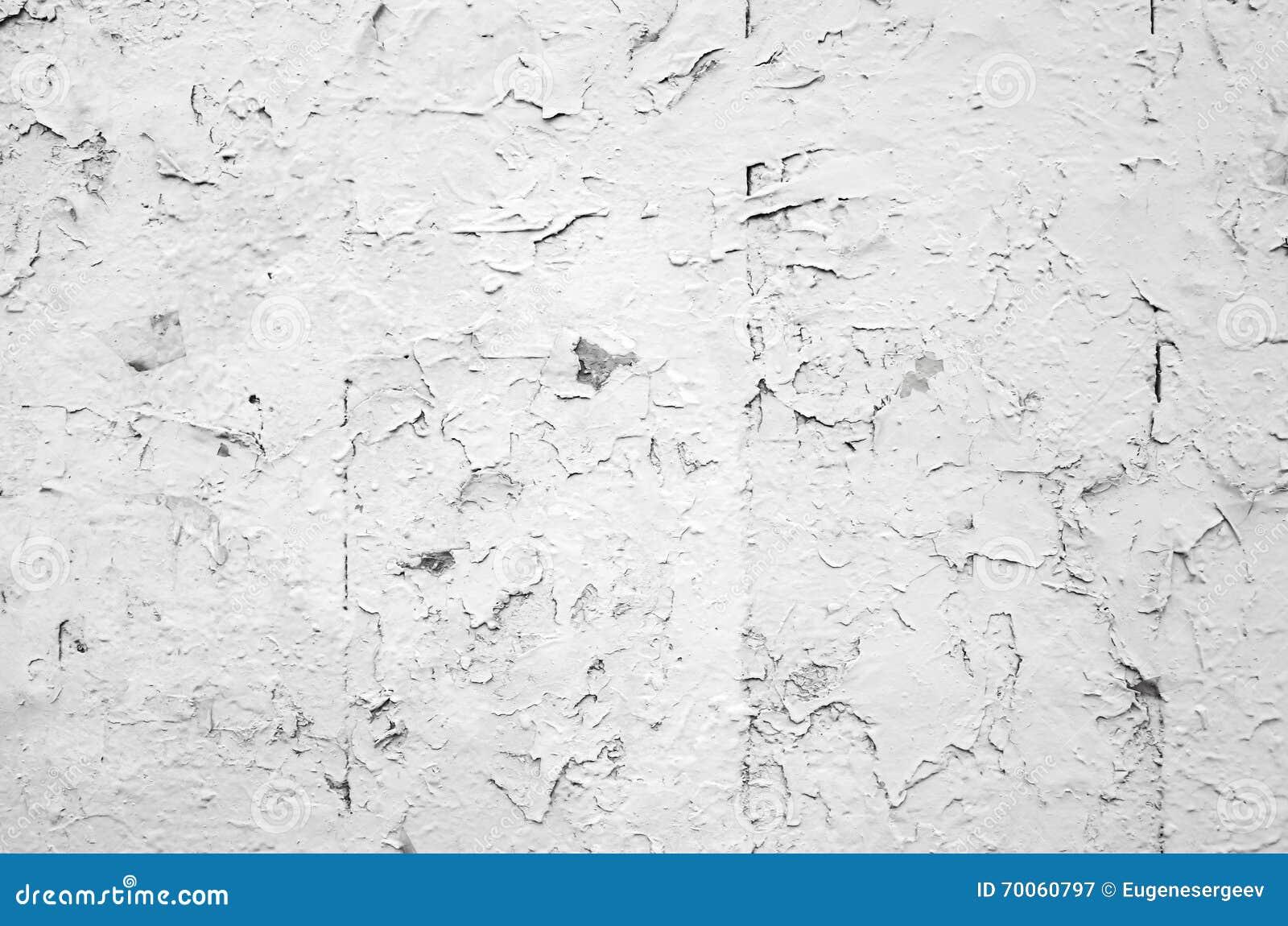 Cracked Flaking White Paint On Old Stone Wall Stock Photo Image 70060797