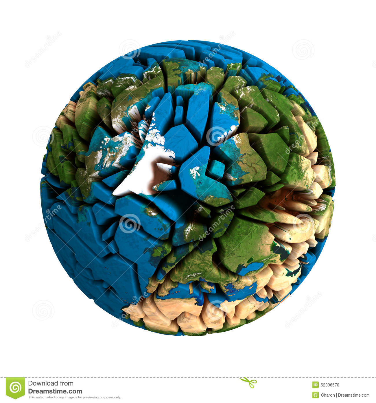 Cracked globe earth broken 3d planet stock photo illustration of download comp gumiabroncs Images