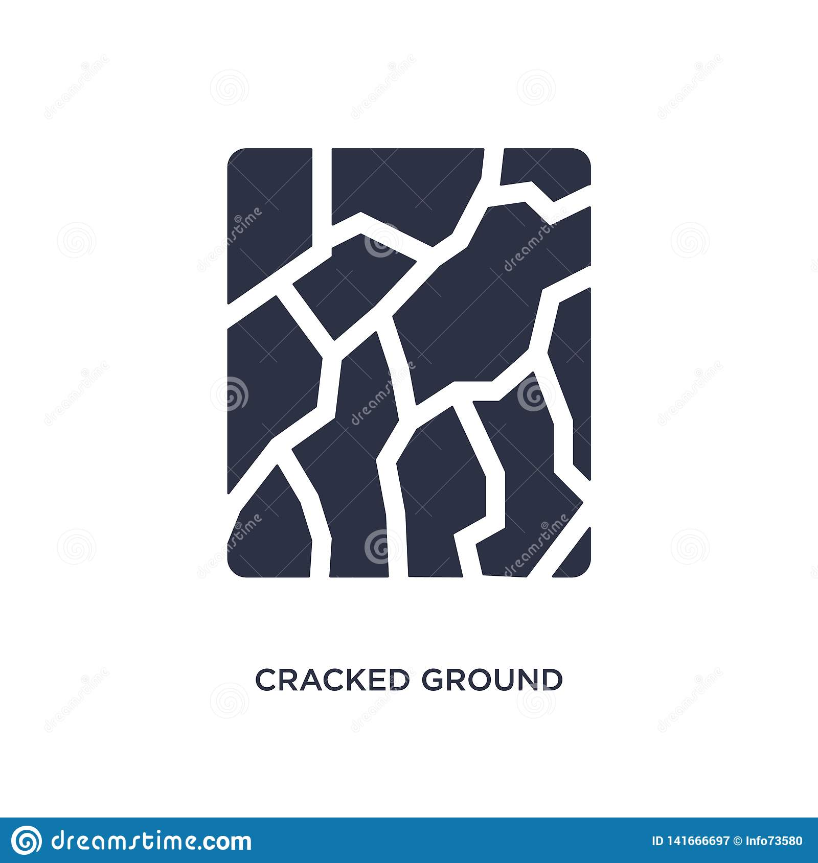 cracked ground icon on white background. Simple element illustration from meteorology concept