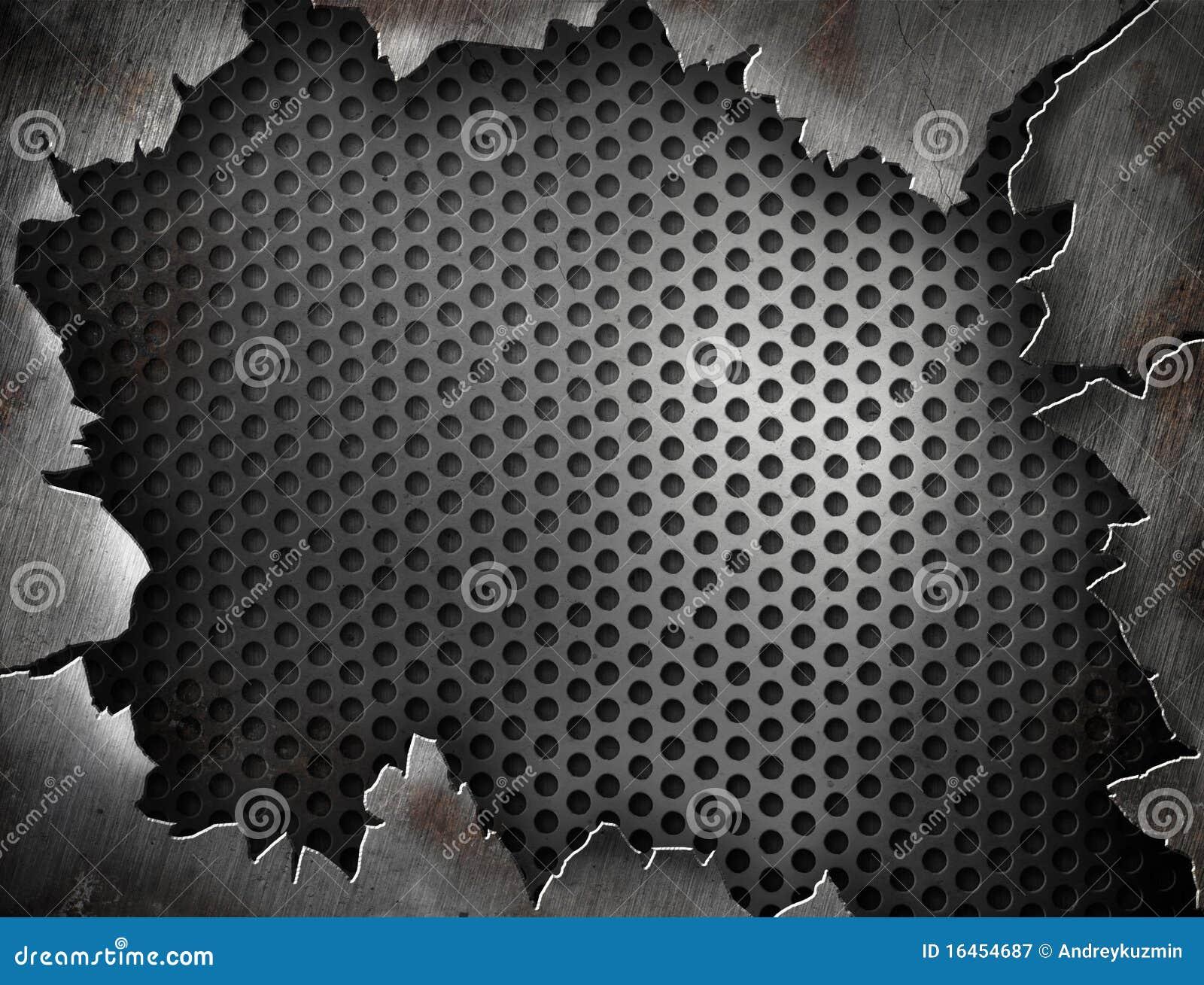 Cracked Grunge Metal Frame For Your Design Stock Illustration ...