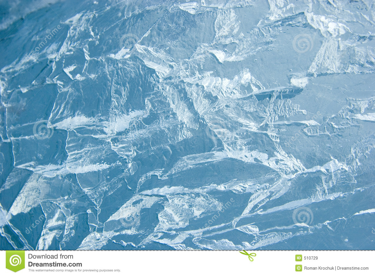 Cracked ice surface (background, texture)
